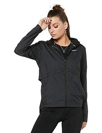 NIKE W Nk Essntl Jkt Hd Sport Jacket, Mujer, black/(reflective silv), XS