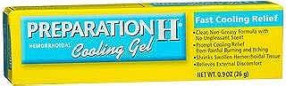 Preparation H Hemorrhoid Symptom Treatment Cooling Gel (0.9 oz Tube), Fast Discomfort Relief with Vitamin E & Aloe