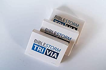 BibleStorm Fun Educational Bible Trivia Card Game - Flashcards for Bible Study - 50 Questionswith Multiple Scripture References per Answer- Play by Yourself or with Family and Friends