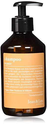 Jean & Len  Shampoo Repair Sandalwood & Silk, für stark geschädigtes und strapaziertes Haar, 2er Pack (2 x 300 ml)