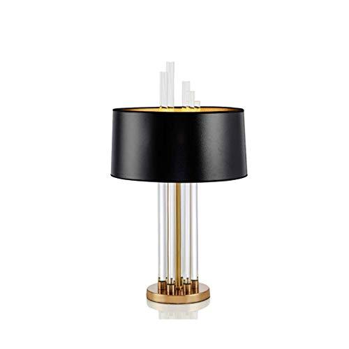 SPNEC Vidrio lámpara de Mesa, lámpara de Mesa de luz de Cristal Moderna lámpara de Mesa de Noche Salón Dormitorio Pantalla de la Tela Iluminación for el hogar