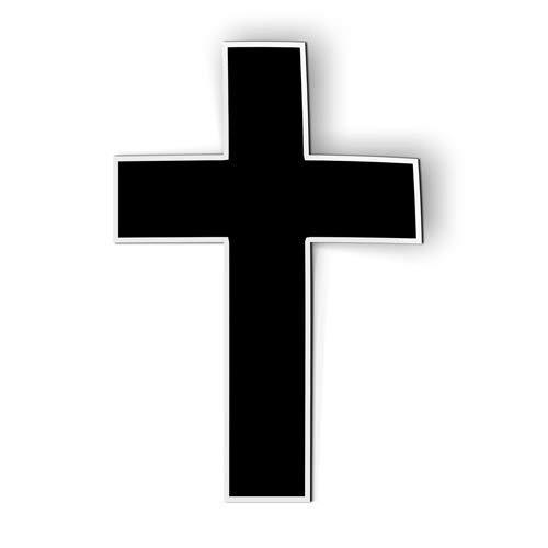 AK Wall Art Cross Simple Black Faith - Magnet - Car Fridge Locker - Select Size