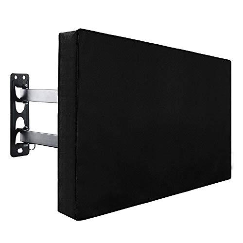 Kalavika Protector TV Exterior Universal Funda para Televisor de Exterior Protector para Pantalla Impermeable para Televisor de Plasma, LED y LCD de 22'' - 70'' Color Negro (22