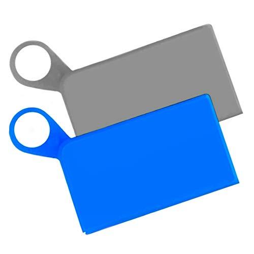Sicurezza Protezione Sanitaria Set 2 pezzi Custodia Silicone per mascherine, Mask Storage, Astuccio Portatile, Organizer per borsa, Mask Bag Set (Blu e nero)