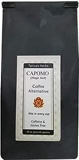 Organic Capomo Coffee Alternative and Substitute - Caffeine Free, Gluten Free, Dark Roast - Maya Nut , Ramon Seeds - Eco Friendly Herbal Coffee - 48 oz. From Tattva's Herbs