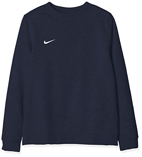 Nike - Team Club 19 Crew - Sweat-shirt - Mixte enfant - Bleu (Obsidian/White 451) - Taille: M