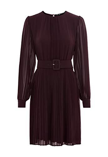 HALLHUBER Plisseekleid aus Chiffon ausgestellter Schnitt Burgunder, 38