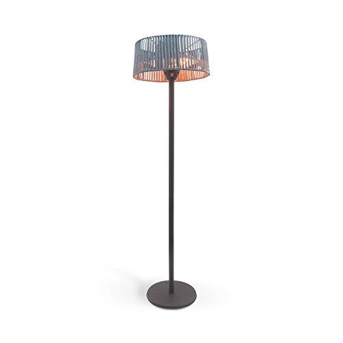 IKOHS Create Patio Heater - Estufa de Exterior para Terraza, Jardin, Calefactor Halógeno, Radiador de pie, 1000W - 2000W, Protección IP34, Diseño Exclusivo (Gris)