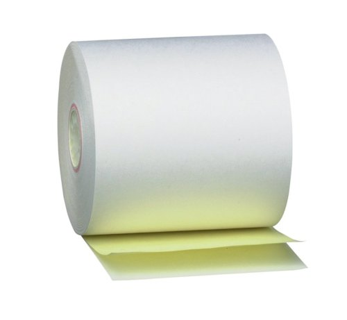 PM Company Perfection 2 Ply POS/Cash Register Rolls, 3.25 Inches X 125 Feet, White/Canary, 50 per Carton (08850)