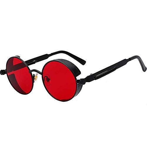 JMCWAN Steampunk - Gafas de sol de metal para hombre y mujer, diseño vintage, UV400 C2. talla única