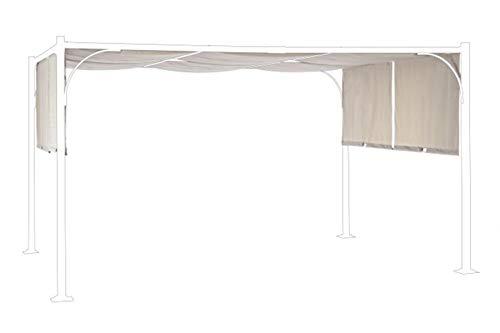 PEGANE Toile pour tonnelle Coloris Taupe - Dim : L 300 x P 400 cm