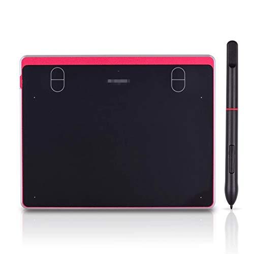 ChengBeautiful Tavoletta Grafica Tablet Grafico Digitale 6x4 Pollici Tablet 4 Tasti di Scelta Rapida Stilo Passivo Senza Batteria 8192 Livelli Pressione Ideale per L e-Learning da Casa A Ufficio