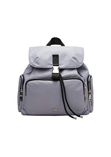 s.Oliver Damen Kompakter Twill-Rucksack light purple 1