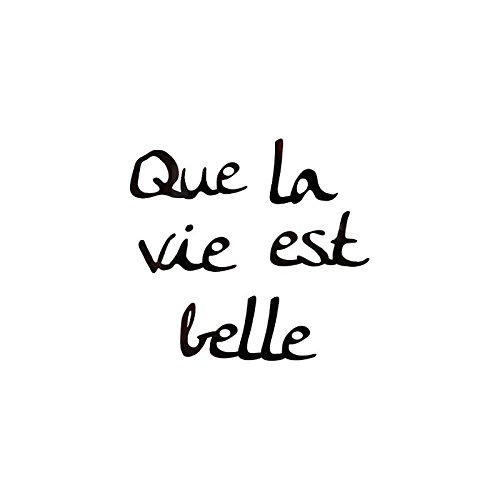 AC-Déco Sticker Miroir - Que la Vie est Belle - 25 x 25 cm - Acrylique - Noir