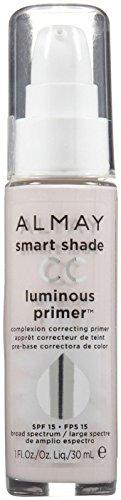 Almay Smart Shade CC Luminous Primer, 1 Fl Oz, Clear