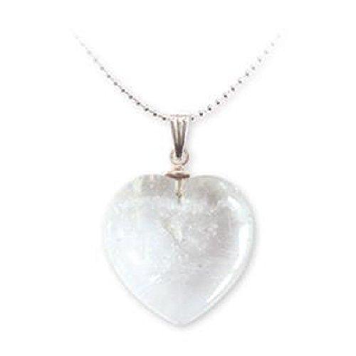 MaryBoutik - Colgante mineral con forma de corazón – Cristal de roca