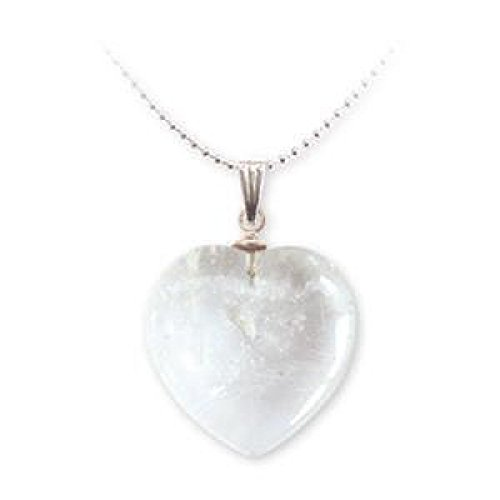 Pendentif minéraux coeur - Cristal de roche