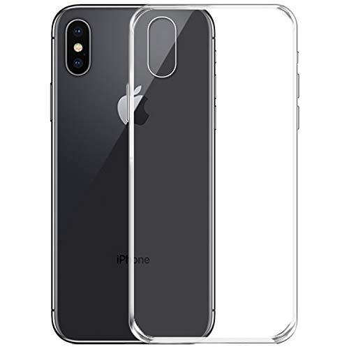 NEW'C Coque Compatible avec iPhone X et iPhone XS, Ultra Transparente Silicone en Gel TPU Souple Coque de Protection avec Absorption de Choc et Anti-Scratch