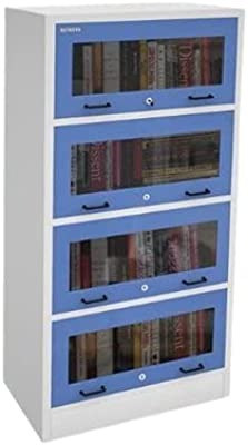 Blue and White 4 Drawers Book Case, for Library, Size: 838 X 381 X 1677 cm Premier Furnishing CO