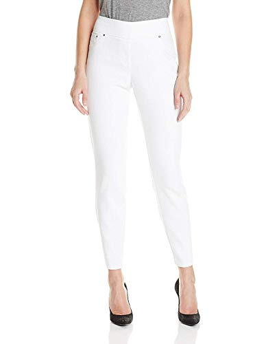 Ruby Rd. Women's Pull-on Extra Stretch Denim Jean, White, 14