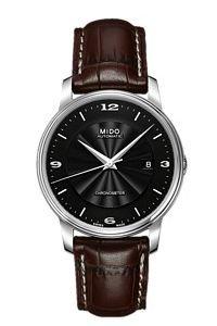 Mido Baroncelli M0104081605710 - Reloj para Hombres, Correa de Cuero Color Negro
