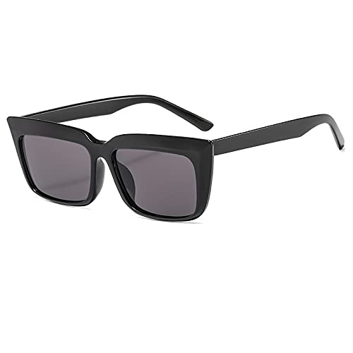 JINZUN Gafas de Sol de Moda con Montura Cuadrada, Gafas de Sol de Tiro Callejero de Moda, Visera de Sol Anti-Ultravioleta, Espejo Unisex