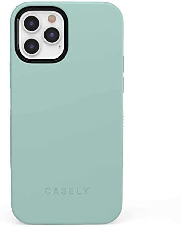 Casely iPhone 12/12 Pro Phone Case - The Bold Collection - Aqua Mint on Aqua Mint 360 Degree Coverage for Your Phone - Precise Cutouts, 1mm Raised Lip Camera Protection - Bold