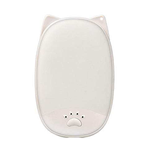 Sconosciuto Scaldamani a Forma di Orecchie di Gatto, scaldamani con Ricarica USB, Bianco