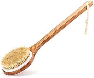 Bath Body Brush Long Handle Bath Back SPA Clean Bath Brush Natural Bristle Shower Brushes Improves Blood Circulation, Exfo...