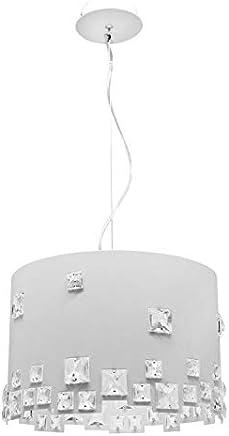 Pendente em Aço para 3 Lâmpadas Uni 740 Design Taschibra Branco
