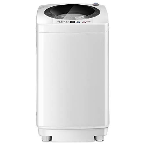 DREAMADE Mini Lavatrice, con Lavaggio Automatico, Lavatrice Portatile, Carico 3,5 kg, Lavatrice Verticale, con Una Pompa di Drenaggio, Bianco