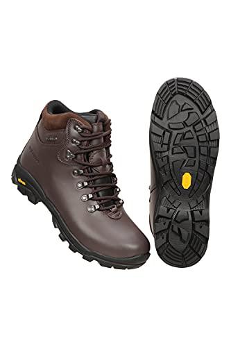 Mountain Warehouse Chaussures de Marche Latitude Vibram pour Homme - Légères, imperméables, Respirantes, Robustes et antidérapantes - pour la randonnée et Le Camping Marron 44