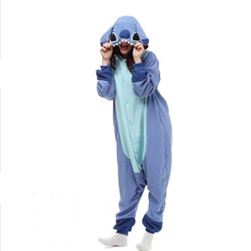 XIAMAZ Bleu Poudre Point 3D Animal Bande Dessinée Pièce Pièce Pyjama Cache-Couche Hommes Et Femmes Service À Domicile Kigurumi Performance