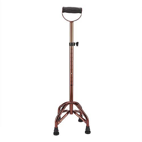 Lsaardth Bastón para Caminar: bastón de Metal Antideslizante telescópico de Cuatro Patas, bastón de Seguridad para Personas Mayores con discapacidad