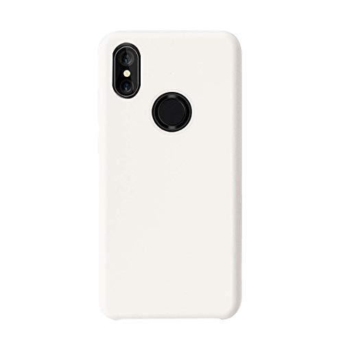Funda Compatible Xiaomi Mi Mix 2S Líquido Silicona Suave Gel Carcasa Ultra-Delgado Protectora Cover Anti-Rasguño Anti-Choque Microfibra Caso para Xiaomi Mix 2S 5.99