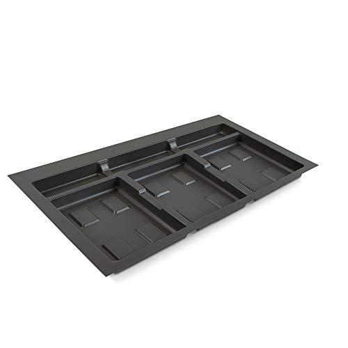 Emuca Basura para cajón, Recortable para Cubos de Reciclaje, Base módulo 80cm (736x482mm), Gris, 80 cm (736 x 482)
