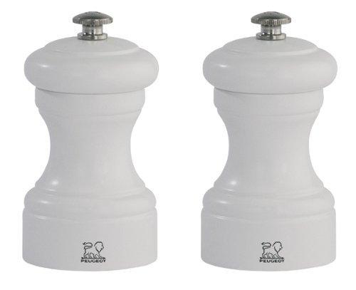 Peugeot set zout- en pepermolen Bistro wit mat 10 cm