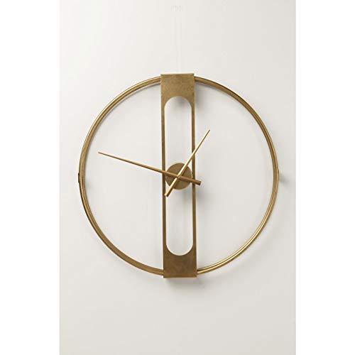 Kare Horloge Murale Design à Clip doré - 60 cm - Taille XL - Dimensions : 60 x 60 x 10 cm