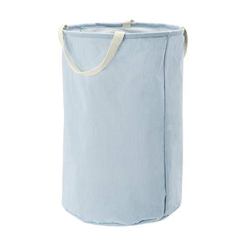 AmazonBasics – Canasto de tela, alto, redondo, azul apagado