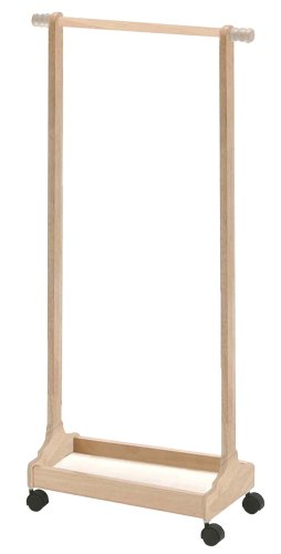 ネイキッズ ハンガーラック 幅60×高さ120cm ナチュラル KDH-1539NA