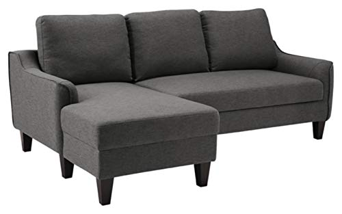 Signature Design by Ashley - Jarreau Contemporary Upholstered Sofa Chaise Sleeper, Gray