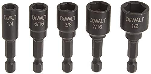 DEWALT Nut Driver Set, Impact Ready, Magnetic, 5-Piece (DW2235IR)
