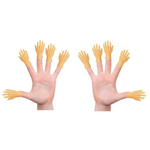 Yolococa Tiny Hands Kleine Hände Fingerpuppen Linke und Rechte Hand Zaubertricks für Familie Freund Spiele Party 10 Pieces