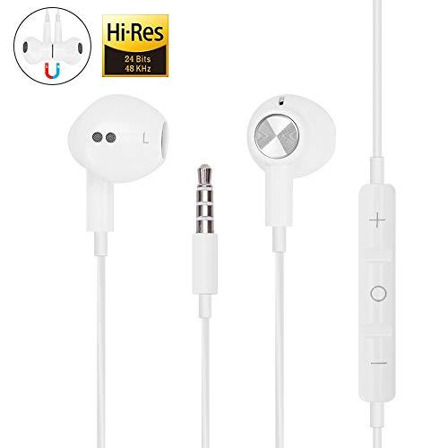Hi-Res - Auriculares de diadema con micrófono para iPhone, iPod,...