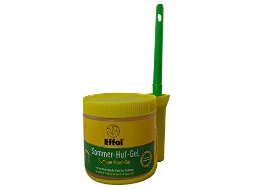 Set Effol Sommer Huf-Gel + Effol Pinsel - Fix - Hufgel mit Avocadoöl 500 ml verhindert spröde Hufe im Sommer fördert die Elastizität