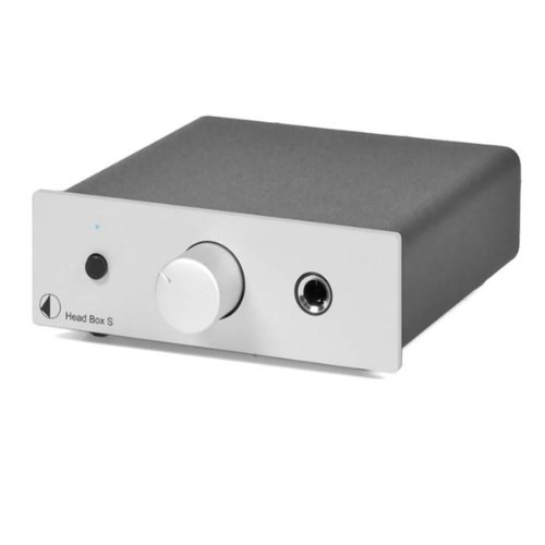 Pro-Ject Head Box S Amplificatore per Cuffia, Volume Regolabile, Argento