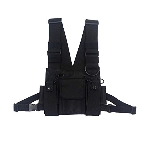 LKJH MarsupioUomini Tactical Shoulder Bag Chest Rig Bag Hip Hop Streetwear Uomini Funzionali Waist Packs Tasche Regolabili Gilet