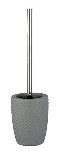 WENKO WC-Garnitur Punto - WC-Bürstenhalter, Keramik, 11 x 41 x 11 cm, grau