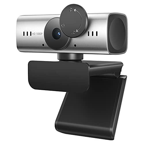 C905 Webcam Autofocus con Microfono, Webcam per PC Full HD 1080P con copertura webcam USB per videoconferenze chiamate PC, laptop, desktop, Skype, YouTube, Zoom Grigio e Verde