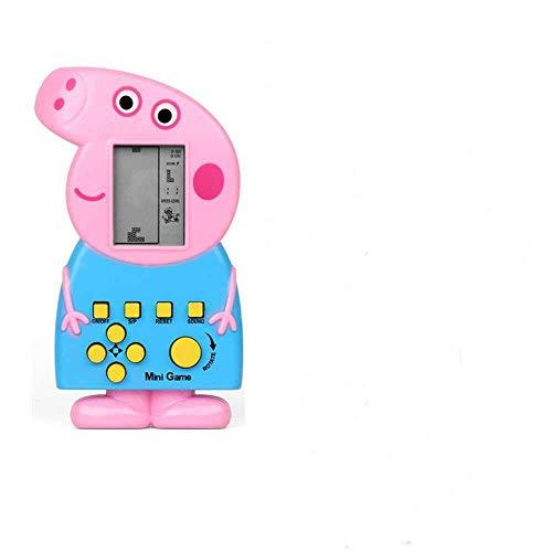 zhuao Nostálgico Consola De Juegos De Bloques Rusos, Consola De Juegos De Bloques Rusos De Dibujos Animados Blue Pig